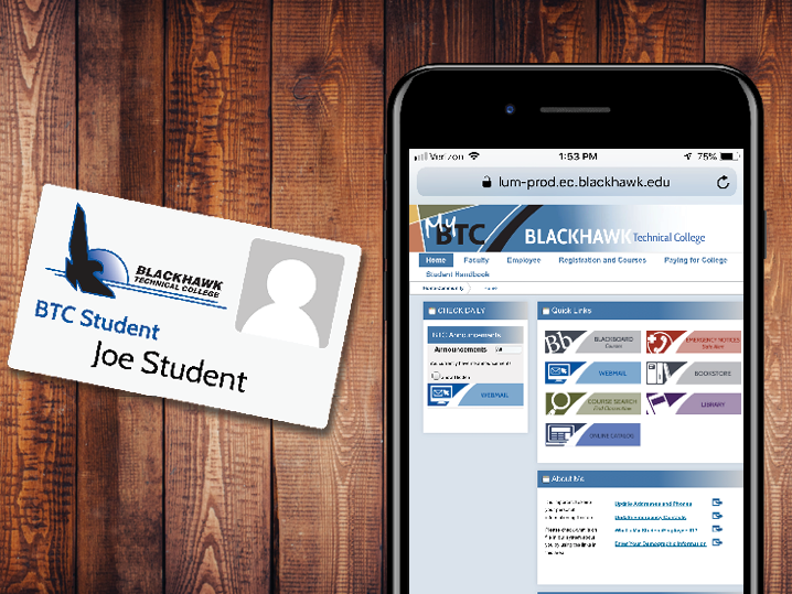 student ID card and mobile student portal