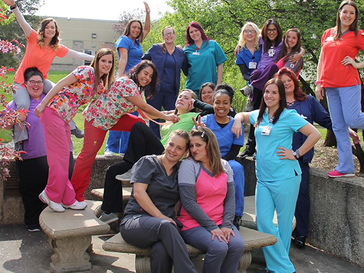 Nursing students having fun