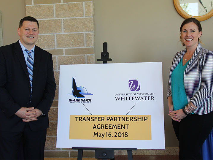 BTC and UWW representatives at Transfer Partnership Agreement signing